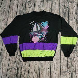 HOST PICK VTG Oversized Florida USA Sweater Men's